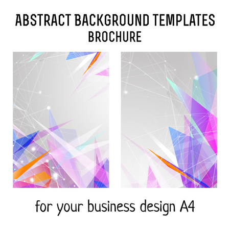 a4: Vector  brochure template design with triangles elements. A4 poster. Illustration