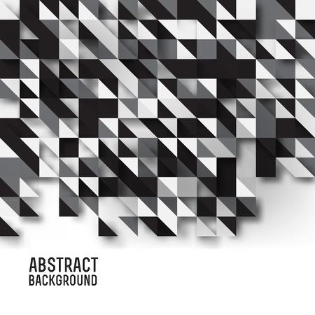urban sprawl: Vector illustration of Abstract triangles background, dark Illustration