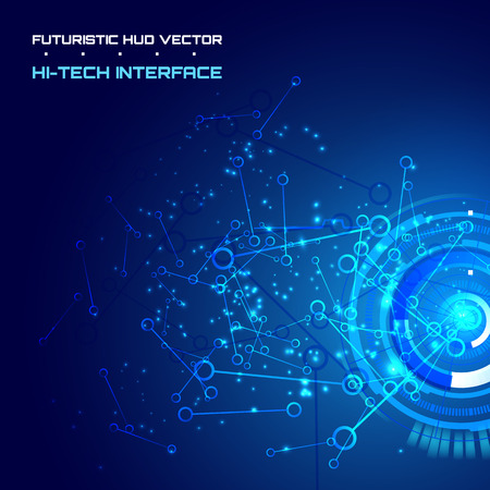 high tech: abstract background for futuristic high tech design - vector