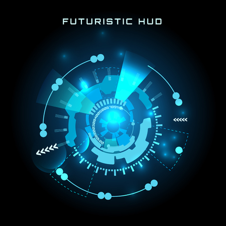 futuristic interface: vector  illustration of Futuristic interface HUD,  background.