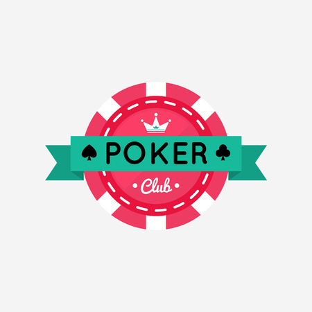 poker chip: Vector illustration of Casino, Poker chip design with crown.
