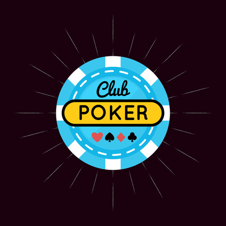 poker chip: Vector illustration of Casino, Poker chip design with card .