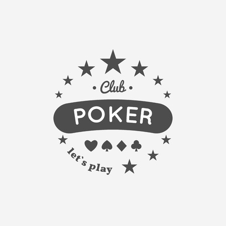 poker chip: Vector illustration of Casino, Poker, chip design with suit.