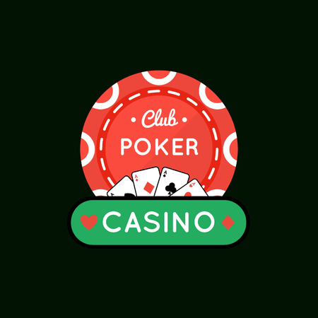 poker chip: Vector illustration of Casino, Poker chip design with ace .