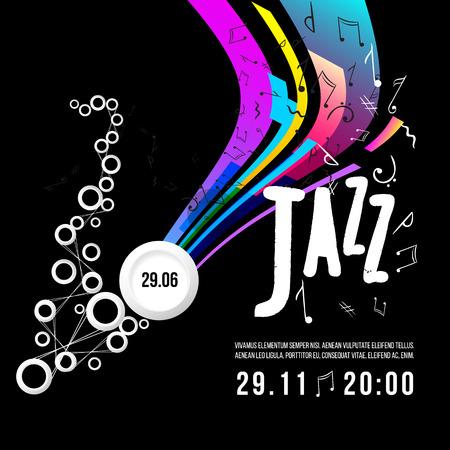Jazz festival poster template. Jazz music. Saxophone. International Jazz Day.