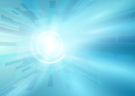 Abstract futuristic digital technology background. sci-fi Illustration Vector Illustration