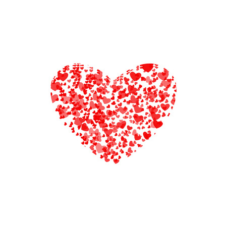 Valentines composition of the hearts. Illustration