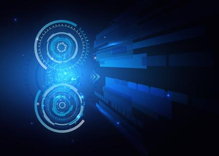 Futuristic technology HUD background, techno circle, sci-fi background.