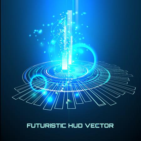 Futuristic interface, HUD background