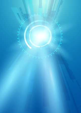 illustration of Futuristic interface, HUD, technology background, sci-fi