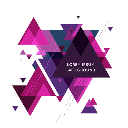 Minimalistic design, creative concept, modern diagonal abstract background Geometric element. purple, dark diagonal lines & triangles. vector-stock illustration.