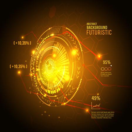 Sci fi futuristic user interface. Hud element. Vector illustration.
