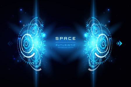 Space Futuristic abstract background. interface, HUD, sci-fi vector background.