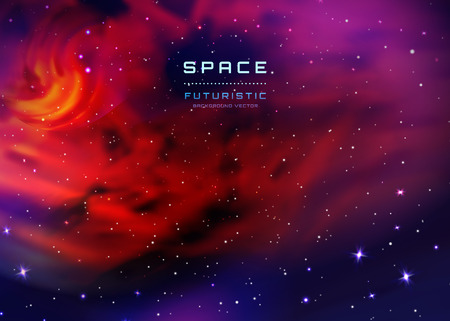 Space Stars Background. Illustration of outer space and Milky Way