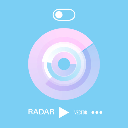 radar vector icon . Flat style illustration. for mobile applications, computer design.