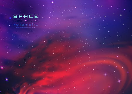 Space Stars Background. Vector Illustration of The Night Sky. illustration of outer space and Milky Way