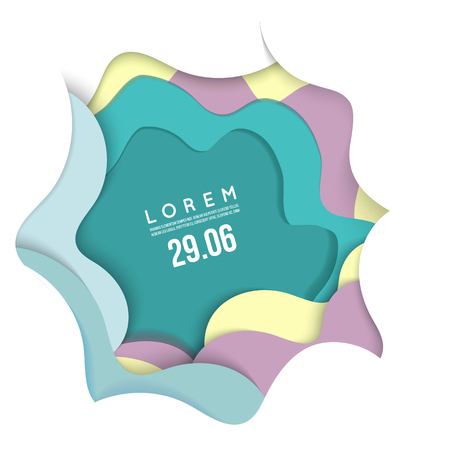 3D abstract background with paper cut shapes. Punchy pastel Vector design layout for business presentations, flyers, posters