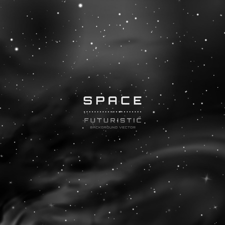 Space Stars Background. Vector Illustration of The Night Sky
