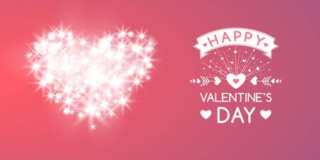 Valentines Day Card With Hearts, Lights And Blurs
