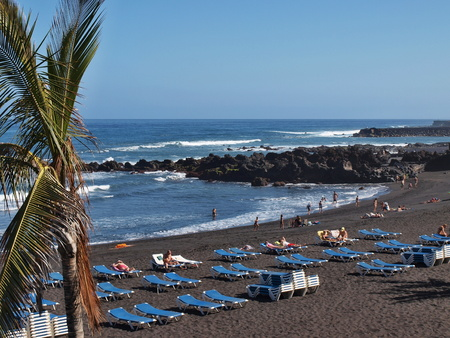santa cruz de tenerife: On a beach in Santa Cruz de Tenerife