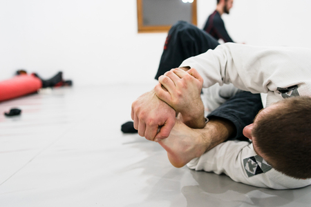 Foot lock brazilian jiu jitsu BJJ Submission Imagens