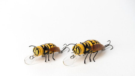 Hornet fishing lures on the white background Фото со стока