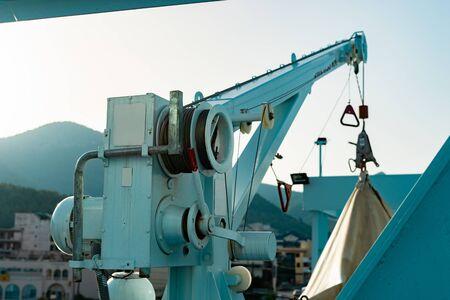 Rettungsboot auf der Fähre Schiffsrettung Standard-Bild
