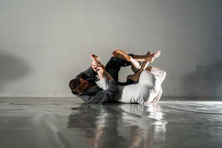 Brazilian Jiu Jitsu BJJ training sparring fight