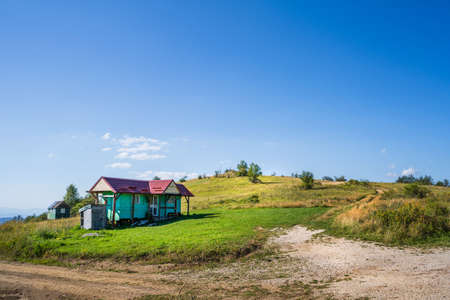 Summer day on Old mountain house at Babin Zub national park in Serbia Stock Photo - 155600384