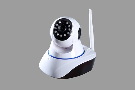 beautiful photography of security cameras camera white color and high quality