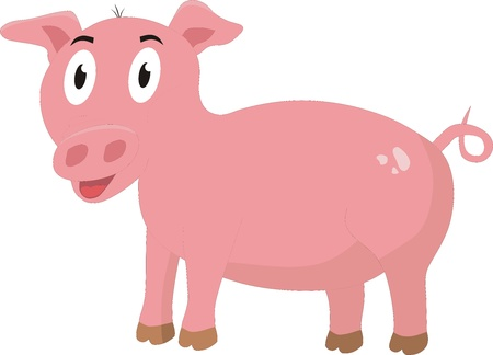 The Illustration of Pink Pig Stock Vector - 16971319