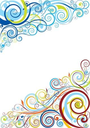 물결: 꽃 배경 디자인
