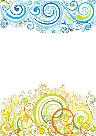 floral scroll: Design floral background