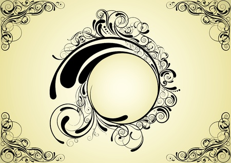 Abstract circle design  Illustration