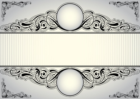 rococo: Horizontal background design