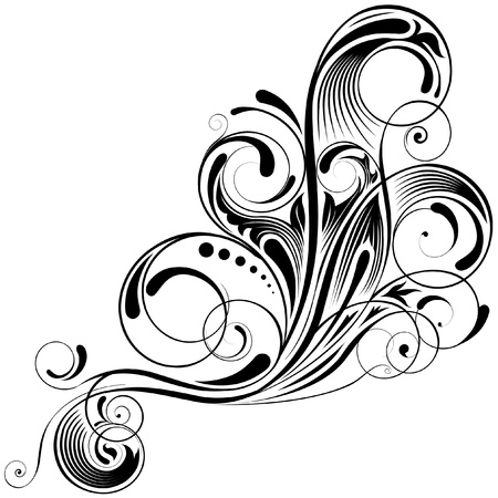 Swirl angle design  Vector