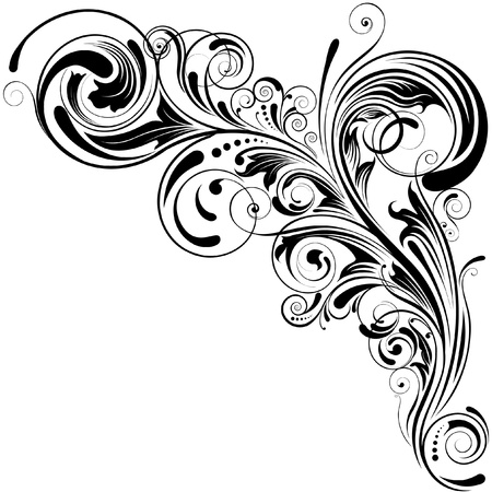 Swirl floral design  Ilustracja