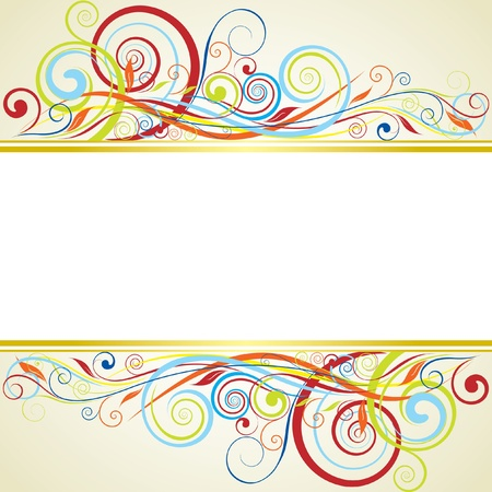 Background floral frame design Vector