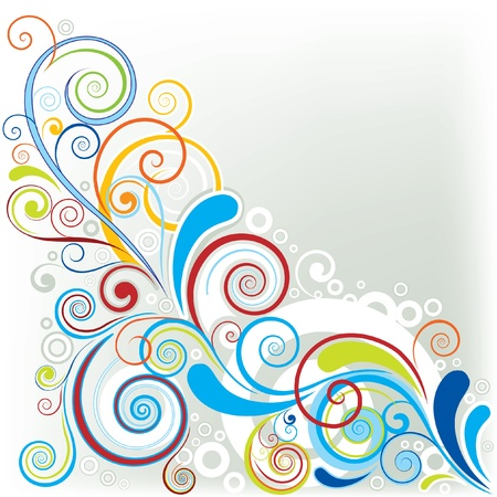floral elements: Corner color design
