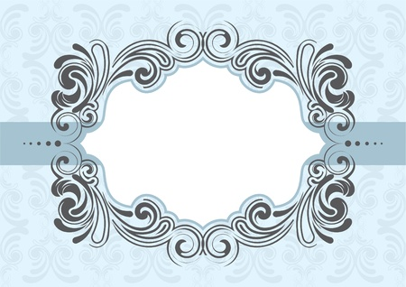 blue frame: Frame design  Illustration
