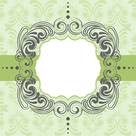 Green frame design  Vector