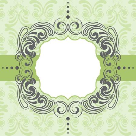 Groen frame ontwerp Stock Illustratie