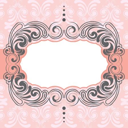 Pink frame design Vector