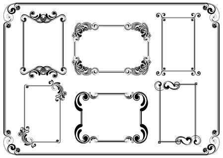 certificate design: Set of frames