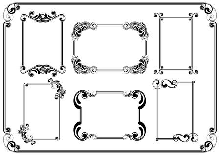Set of frames Stock Vector - 12205643