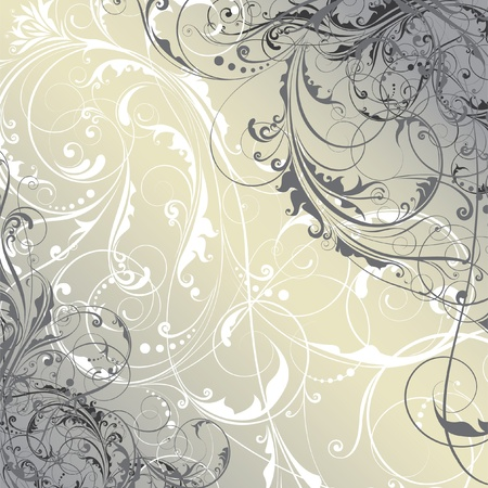 baroque background: Abstract floral background