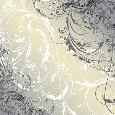 vignette: R�sum� fond floral Illustration