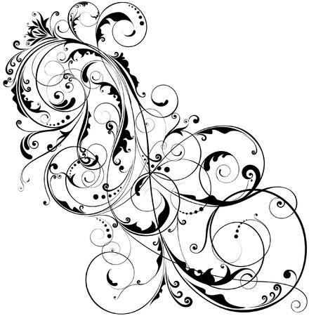 Abstracte bloem ontwerp