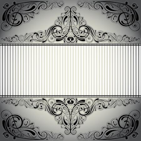 corner design: Background label design Illustration
