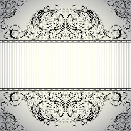 Background label floral design Vector